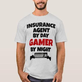 T-shirt Agent d'assurance par le Gamer de jour par nuit