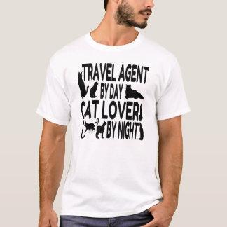 T-shirt Agent de voyage d'amoureux des chats