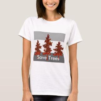 T-shirt Aide sauver des arbres - environnement sain
