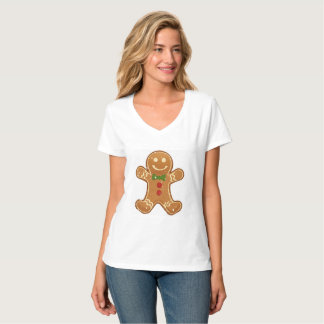 T-shirt   Aidensworld21 de V-Cou de pain d'épice