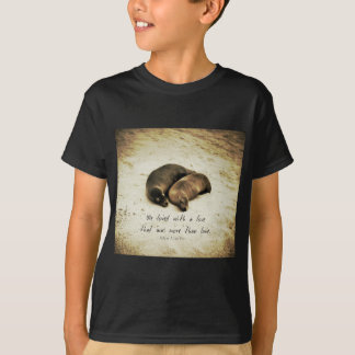 T-shirt Aimez les otaries romantiques de citation de