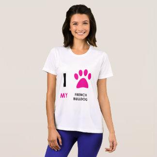 T-shirt Aimez ma patte de bouledogue français