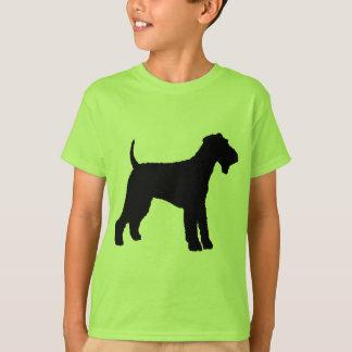 T-shirt Airedale Terrier (noir)
