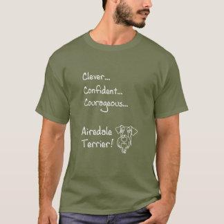 T-shirt Airedale terriers futés