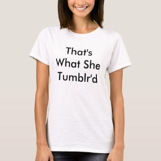 T-shirt Ajustement de Tumblr'd