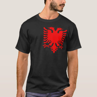 T-shirt Albanais rouge Eagle