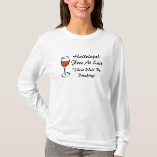 T-shirt ALLÉLUIA divorcé je suis partie LIBRE de divorce