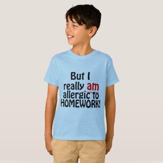 T-shirt Allergique à la chemise de travail