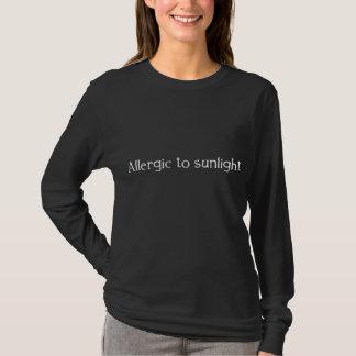 T-shirt Allergique à la lumière du soleil
