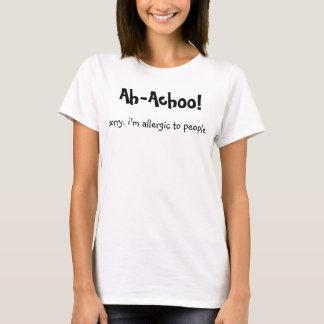 T-shirt Allergique aux gens (f)