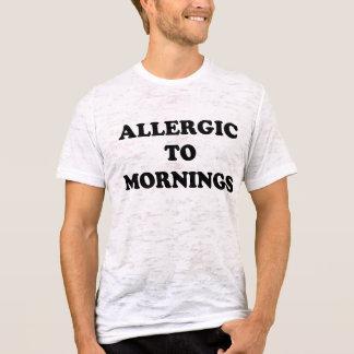 T-shirt Allergique aux matins