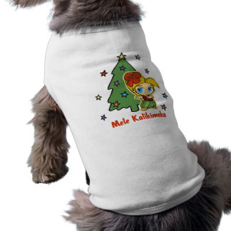 T-shirt Aloha fille de danse polynésienne blonde de Noël