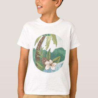 T-shirt Aloha noix de coco, ananas, conception de ketmie