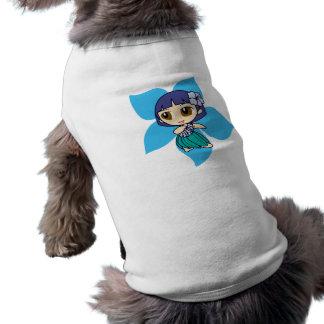 T-shirt Aloha pièce en t de chienchien de fille de danse