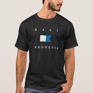 T-shirt Alpha drapeau de piqué de Bali Indonésie