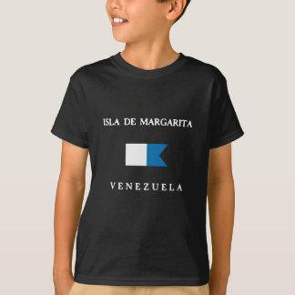 T-shirt Alpha drapeau de piqué d'Isla De Margarita