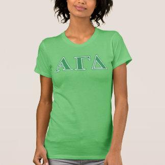 T-shirt Alpha lettres gamma de vert de delta