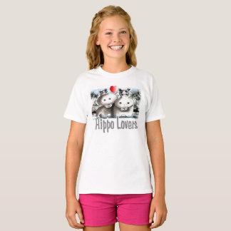 T-shirt Amants d'hippopotame