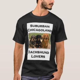 T-shirt Amants suburbains de teckel de Chicagoland