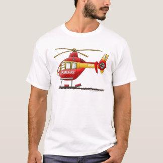 T-shirt Ambulance médicale d'hélicoptère de délivrance de