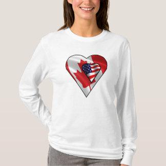 T-shirt Américain de feuille d'érable