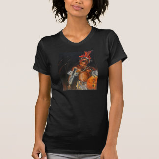 T-shirt américain d'habillement de noir de guerrie