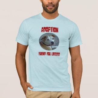 T-shirt Ami de l'adoption A de Pitbull pendant la vie