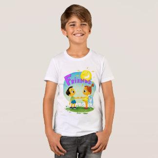 T-shirt Amis, fille et garçon heureux d'enfants