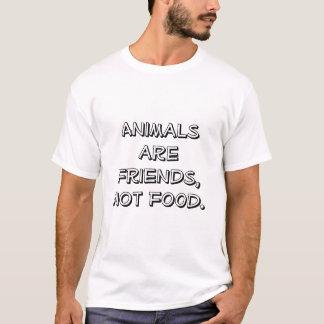 T-shirt Amis, pas nourriture