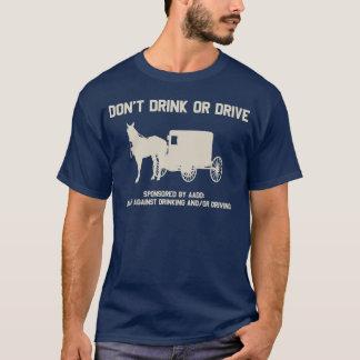 T-shirt Amish - ne buvez pas ou ne conduisez pas