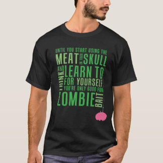 T-shirt Amorce de zombi (viande foncée)