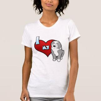T-shirt Amour de la bande dessinée I mes vieilles dames