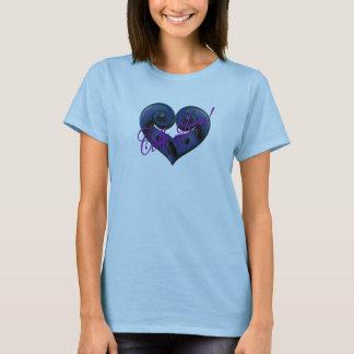 T-shirt Amour de violoncelle - bleu