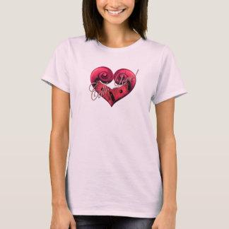 T-shirt Amour de violoncelle - rose