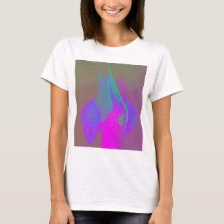 T-shirt Amour d'escargot dans le fuschia