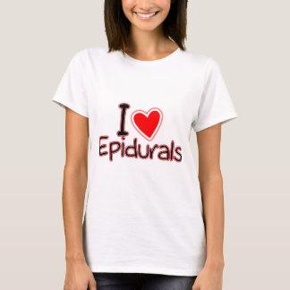 T-shirt Amour drôle Epidurals de la maternité I