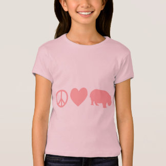 T-shirt Amour et hippopotames de paix