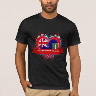T-shirt Amour Îles Vierges britanniques du cru I