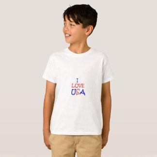 T-shirt Amour patriotique Etats-Unis d'I
