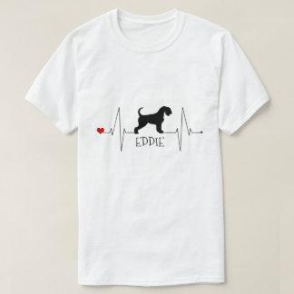 T-shirt Amour personnalisé d'Airedale mon battement de