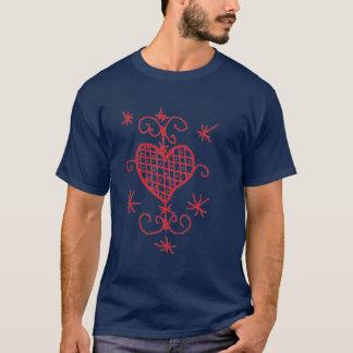 T-shirt Amour rouge Sigil de porte-malheur de vaudou de