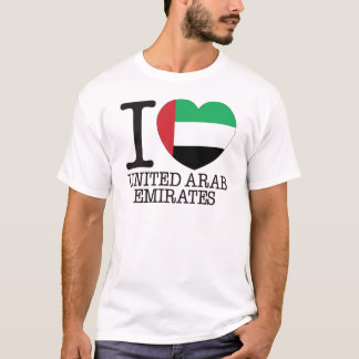 T-shirt Amour v2 des Emirats Arabes Unis
