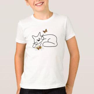 T-shirt Amusement de chat de griffonnage