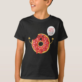 T-shirt Amusement noir de patin de beignet de cool de