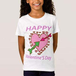 T-Shirt Amusement romantique de flèches du coeur n de