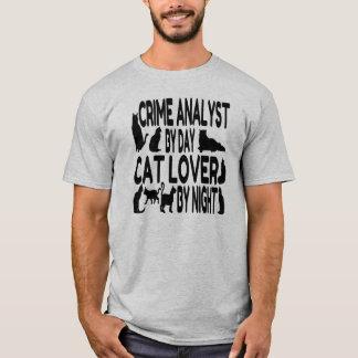 T-shirt Analyste de crime d'amoureux des chats