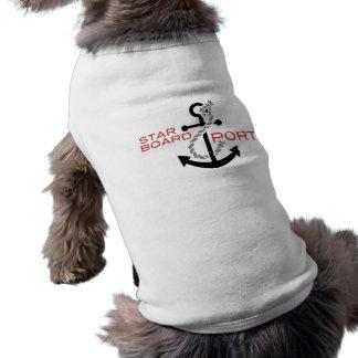 T-shirt Ancre droite nautique de port
