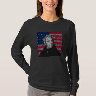 T-shirt Andrew Jackson et le drapeau des USA