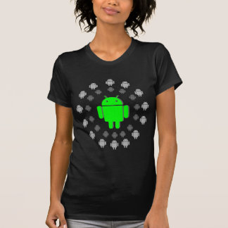 T-shirt Android, androïdes, vert et gris