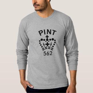 T-shirt anglais de long-douille de pinte